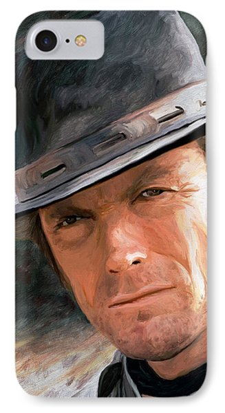 Clint Eastwood Phone Case by James Shepherd