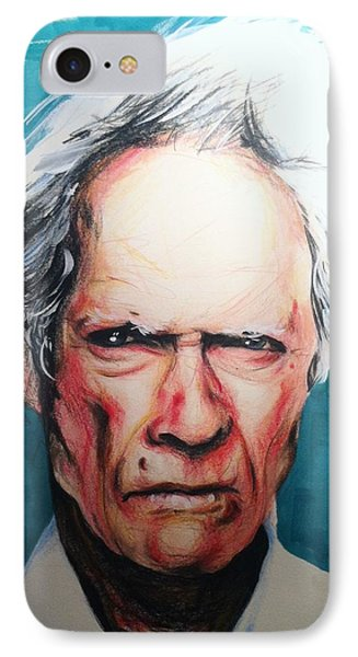 Clint Eastwood IPhone Case by Matt Burke