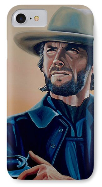 Clint Eastwood Painting IPhone Case by Paul Meijering