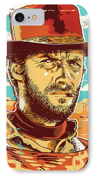Clint Eastwood Pop Art IPhone Case by Jim Zahniser