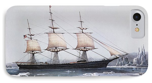 Clipper Ship Red Jacket In The Ice Off Cape Horn On Her Passage From Australia To Liverpool IPhone Case by American School