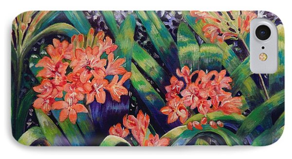 Clivias In Bloom Phone Case by Caroline Street