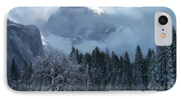 Cloaked In A Snow Storm Phone Case by Heidi Smith