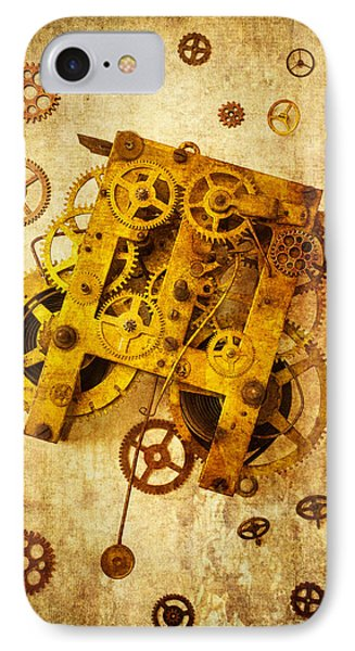 Clock Gears IPhone Case by Garry Gay