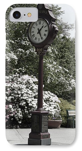 IPhone Case featuring the photograph Clock In Park Muted by Laurie Tsemak