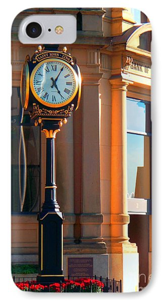 IPhone Case featuring the photograph Clock Of New Brunswick by Gena Weiser