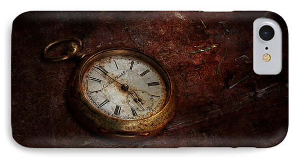 Clock - Time Waits Phone Case by Mike Savad