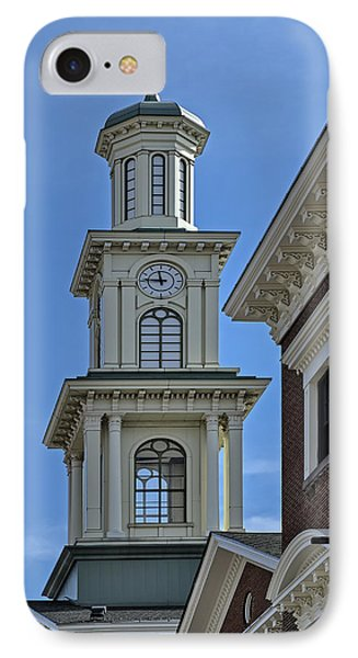 Clock Tower At Camden Station IPhone Case by Susan Candelario