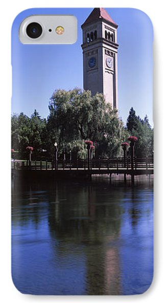 Clock Tower At Riverfront Park IPhone Case