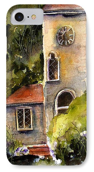 IPhone Case featuring the painting Clock Tower England by Marti Green