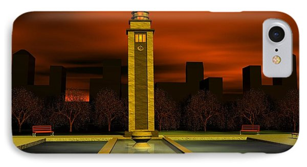 Clock Tower IPhone Case by John Pangia