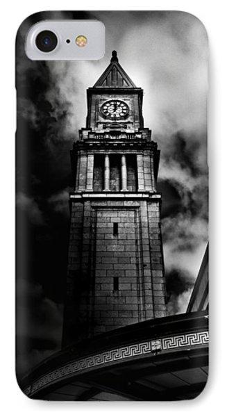 Clock Tower No 10 Scrivener Square Toronto Canada IPhone Case by Brian Carson
