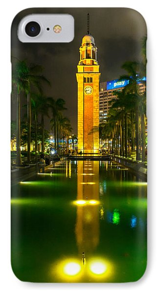Clock Tower Of Old Kowloon Station Phone Case by Hisao Mogi