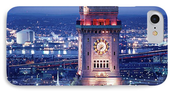 Clock Tower Of The Custom House IPhone Case by Panoramic Images