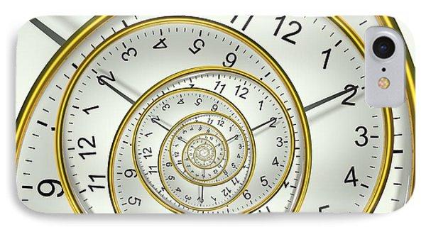 Clockface Spacetime Warp IPhone Case by David Parker