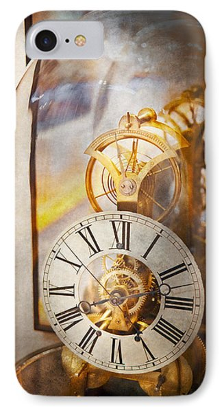 Clockmaker - A Look Back In Time Phone Case by Mike Savad