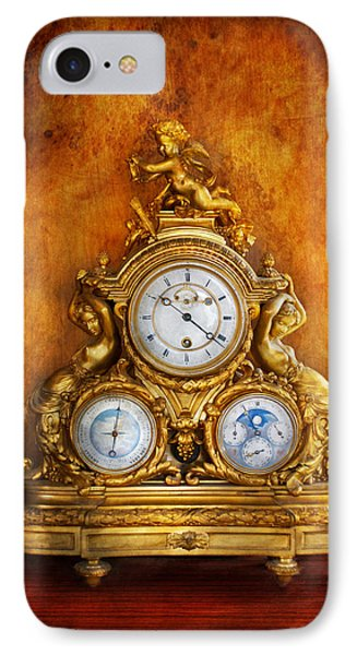 Clockmaker - Anyone Have The Time IPhone Case by Mike Savad