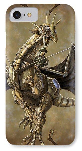 Dragon iPhone 7 Case - Clockwork Dragon by Rob Carlos