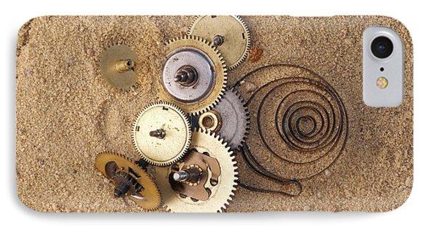 Clockwork Mechanism On The Sand Phone Case by Michal Boubin