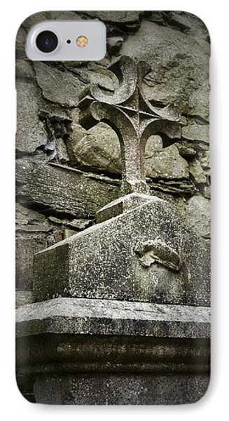 Cloister Cross At Jerpoint Abbey IPhone Case by Nadalyn Larsen