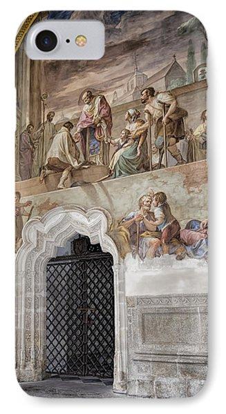 Cloister Fresco IPhone Case by Joan Carroll