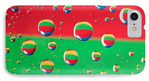 Clolrful Water Drop Reflections Phone Case by Sharon Dominick
