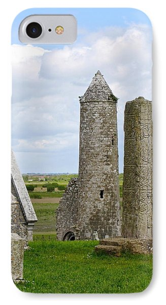 IPhone Case featuring the photograph Clonmacnoise Towers by Suzanne Oesterling
