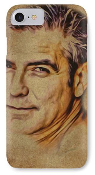 Clooney On Brown Background IPhone Case by Yury Malkov
