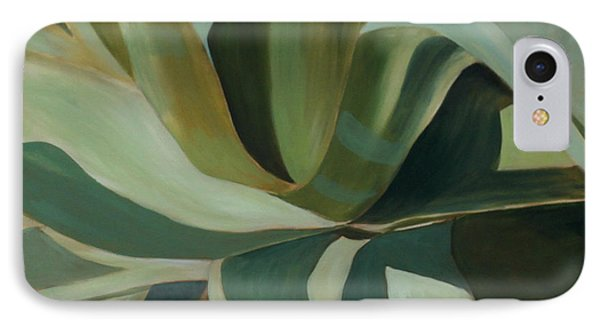 IPhone Case featuring the painting Close Cactus by Debbie Hart