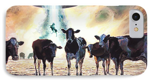 Close Encounters Of The Herd Kind IPhone Case by Todd Trainer
