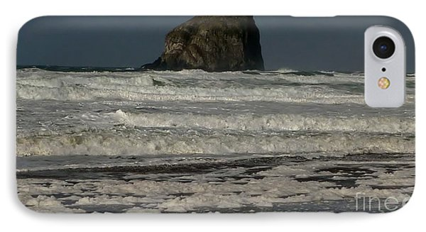 IPhone Case featuring the photograph Close Haystack Rock by Susan Garren