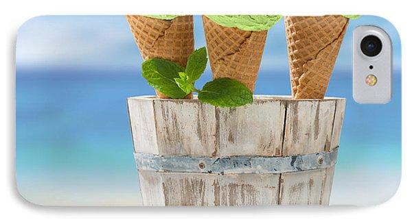 Kiwi iPhone 7 Case - Close Up Ice Creams by Amanda Elwell