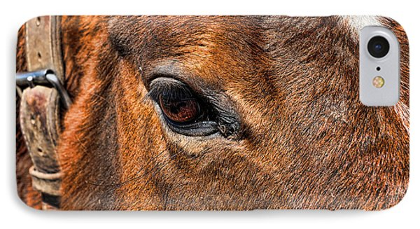 Close Up Of A Horse Eye Phone Case by Paul Ward