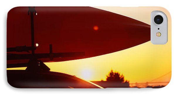 Close-up Of A Kayak On A Car Roof IPhone Case by Panoramic Images