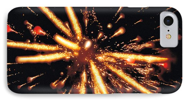 Close Up Of Ignited Fireworks IPhone Case by Panoramic Images