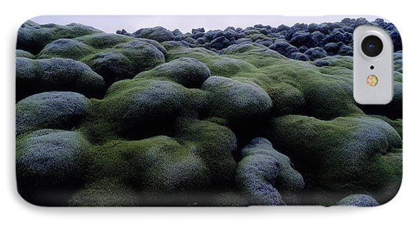 Close-up Of Moss On Rocks, Iceland IPhone Case