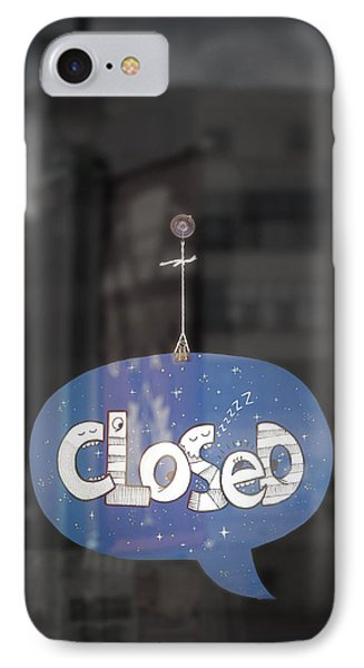 Closed Sleep Tight IPhone Case by Scott Norris