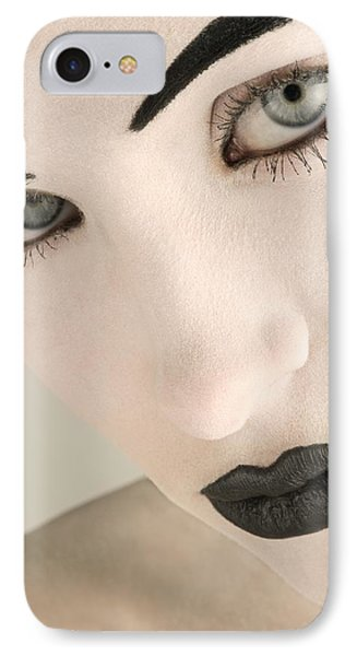 Closeup Of A Womans Face Phone Case by Darren Greenwood