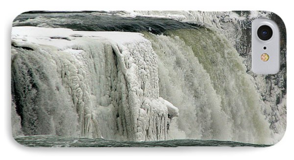 Closeup Of Icy Niagara Falls IPhone Case by Rose Santuci-Sofranko