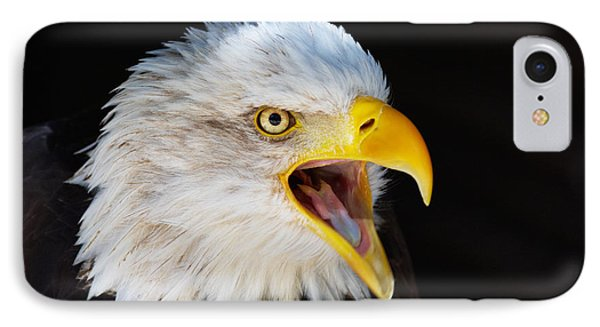 IPhone Case featuring the photograph Closeup Portrait Of A Screaming American Bald Eagle by Nick  Biemans