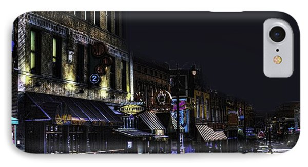 Memphis - Night - Closing Time On Beale Street IPhone Case by Barry Jones