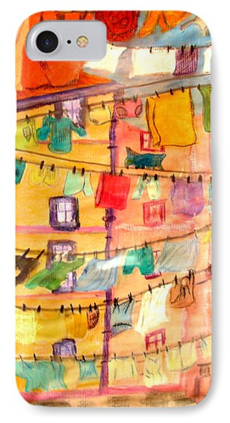 Clothes Line IPhone Case by Joseph Hawkins