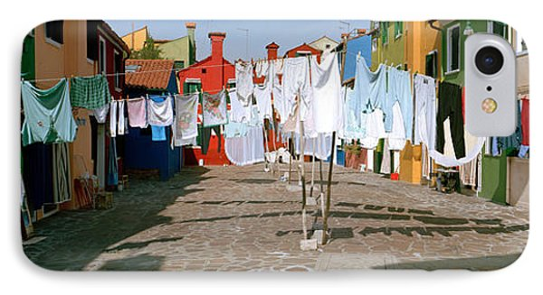 Clothesline In A Street, Burano IPhone Case