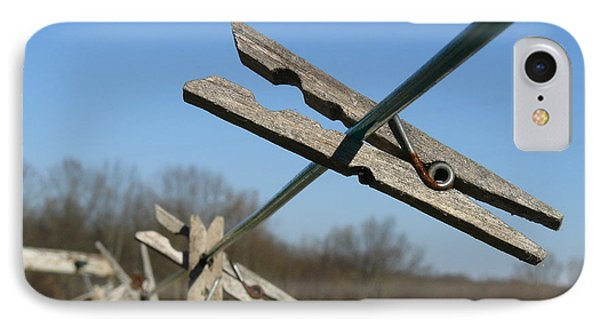IPhone Case featuring the photograph Clothespin In Winter by Jane Ford