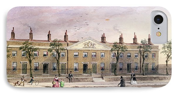 Clothworkers Almhouses In Frog Lane Wc On Paper IPhone Case