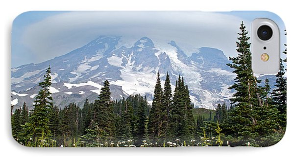 Cloud Capped Rainier IPhone Case by Tikvah's Hope