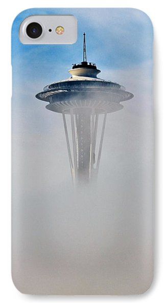 Cloud City Needle IPhone Case by Benjamin Yeager