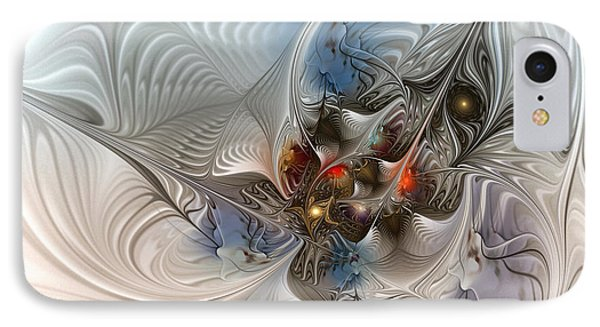 Cloud Cuckoo Land-fractal Art IPhone Case by Karin Kuhlmann