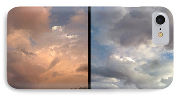 Cloud Diptych Phone Case by James W Johnson