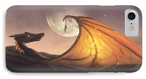 Cloud Dragon IPhone Case by Cassiopeia Art